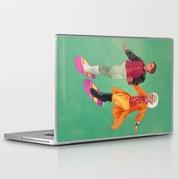 back to the future Laptop & iPad Skins featuring Back to the Future by Dave Collinson