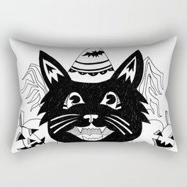 Halloween Party Cat Rectangular Pillow