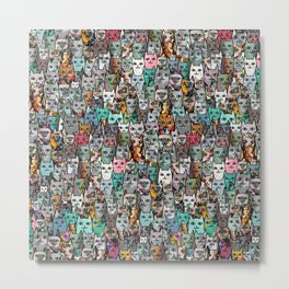 Gemstone Cats Metal Print