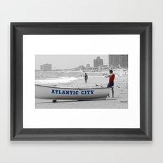 Atlantic City Memories Framed Art Print