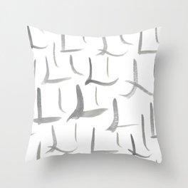 Watercolor L's - Grey Gray Throw Pillow