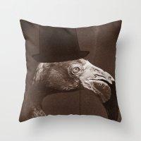 gentleman Throw Pillows featuring Gentleman by Alexander Wansuk Ohlsson
