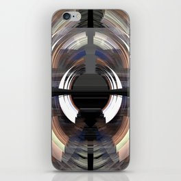 Tunnel vision, modern fractal abstract art iPhone Skin