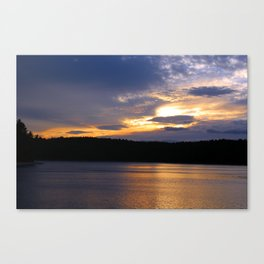 Sunset at Concord's Walden Pond 13 Canvas Print