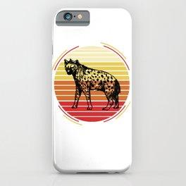 Sunset Hyena iPhone Case