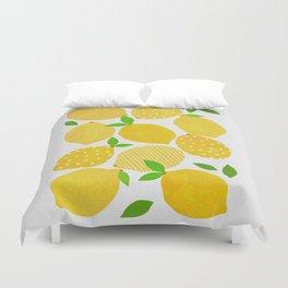 Lemon Crowd Duvet Cover