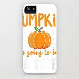 little pumpkin pregnancy statement halloween boys girls tee tee iPhone Case