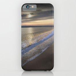 Sunset at Three Cliffs Bay iPhone Case