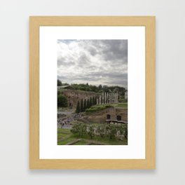 View from the Coliseum Framed Art Print
