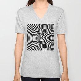Vortex, optical illusion black and white Unisex V-Neck