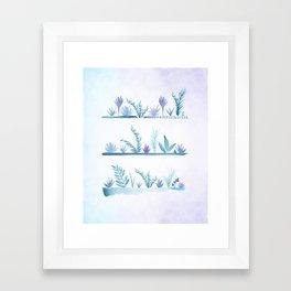 Tropical Succulent Garden Framed Art Print