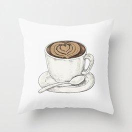 Cute Cappuccino Throw Pillow