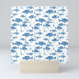 Blue fish. Mini Art Print