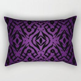 Purple tribal shapes pattern Rectangular Pillow