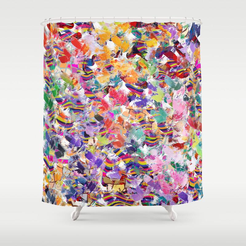 Broken Cups Shower Curtain by Lalachandra CTN8601741