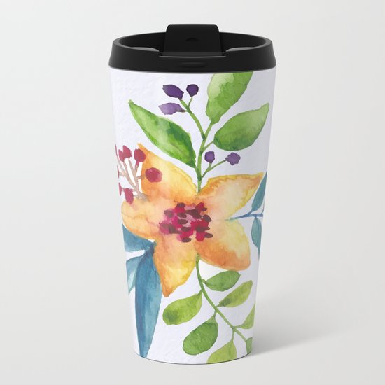 Flowers -a6 Metal Travel Mug