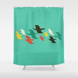 Birds are flying Shower Curtain