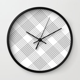 Crossing lines Wall Clock