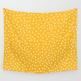 YELLOW DOTS Wall Tapestry