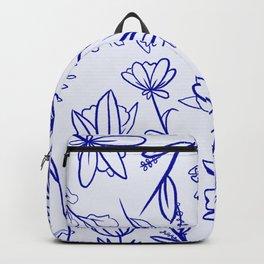 Floral Blue Moss Backpack