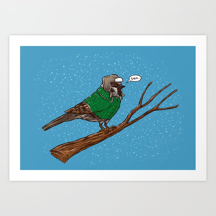 Annoyed IL Birds: The Sparrow Art Print