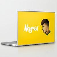 brazil Laptop & iPad Skins featuring Neymar Brazil by Dave Flanagan