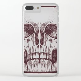Front Skull Clear iPhone Case
