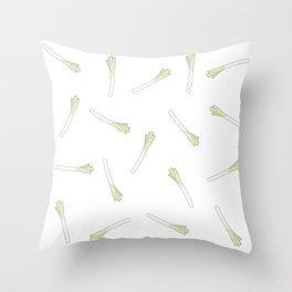 Leek Leek Leek Throw Pillow