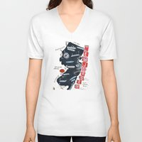 new jersey V-neck T-shirts featuring NEW JERSEY by Christiane Engel