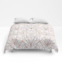 Art Deco Marble & Copper Comforters