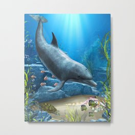 The World Of The Dolphin Metal Print