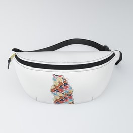 Colorful Grizzly Bear Abstract Illustration Fanny Pack