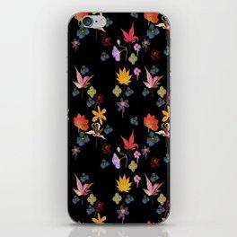 Dark Floral Garden iPhone Skin