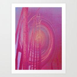 Spiraling Forest Pink Art Print