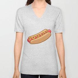 hotdog Unisex V-Neck