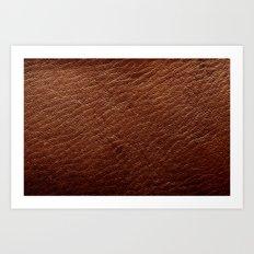Leather Texture (Dark Brown) Art Print