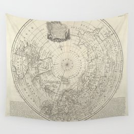 Artic Map / 1780 Wall Tapestry