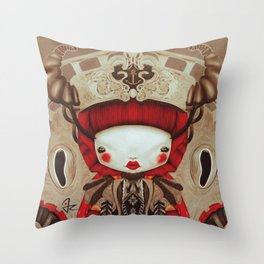 """Kokeshi Doll"" Throw Pillow"