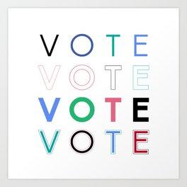 Vote Baby Vote 031816 Art Print