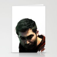 derek hale Stationery Cards featuring Derek by @cuisle