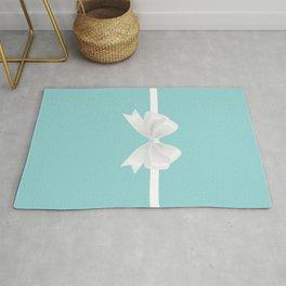 Turquoise & White Bow Rug