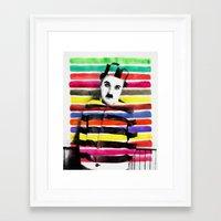 charlie chaplin Framed Art Prints featuring Charlie Chaplin by manish mansinh