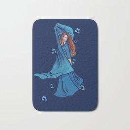 Blue Belly Dancer Bath Mat