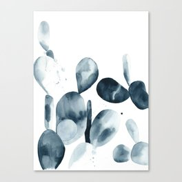 Indigo Paddle Cactus Canvas Print