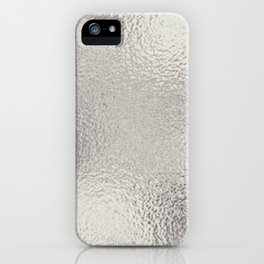 Simply Metallic in Silver iPhone Case
