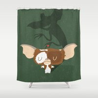 gizmo Shower Curtains featuring Mogwai by Rod Perich