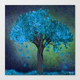 TREE OF BLUE Canvas Print