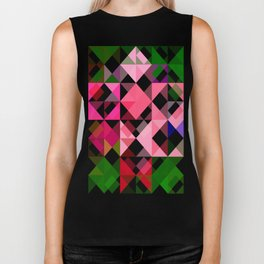 Pink Roses in Anzures 2 Abstract Triangles 1 Biker Tank