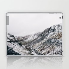 Honister Pass covered in snow. Cumbria, UK. Laptop & iPad Skin