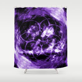 Purple Aura Shower Curtain